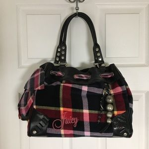 Juicy couture daydreamer NEW velour bag black NWT